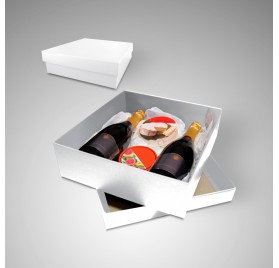 Box Gourmet Extra Large white color measures 350x320x105mm