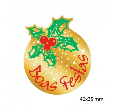 Etiqueta Autocolante de Natal 8