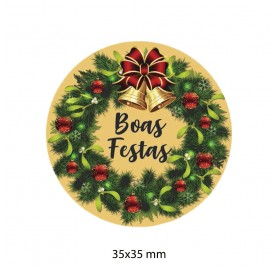 Etiqueta Autocolante de Natal 11