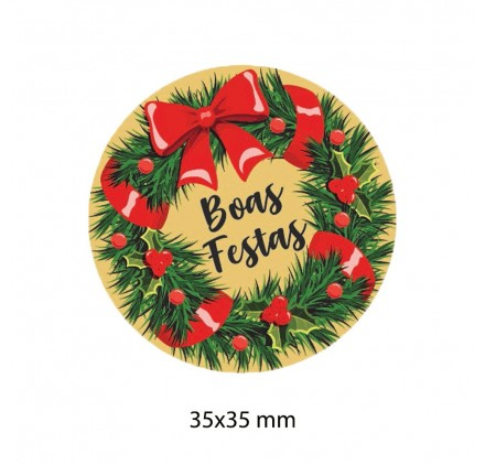 Etiqueta Autocolante de Natal 12