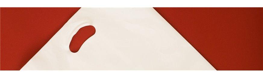 Bolsa plástico con asa troquelada